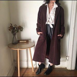 Vintsge royal purple trench coat